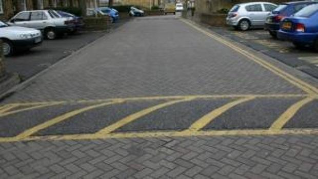Speed bumps in residential street