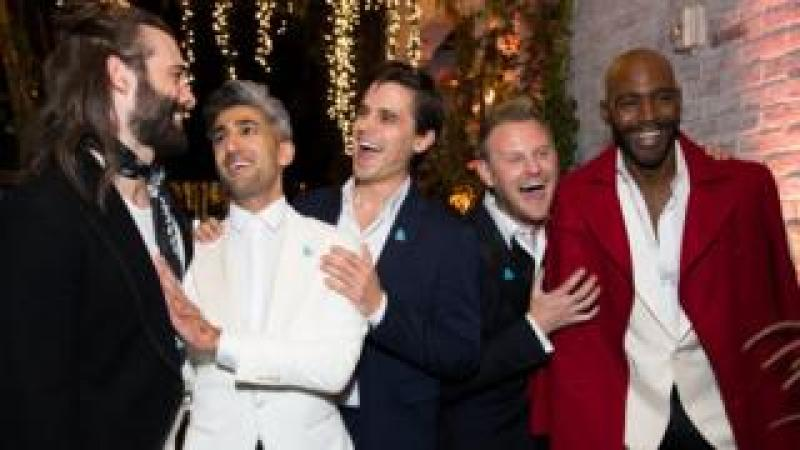 Jonathan Van Ness, Tan France, Antoni Porowski, Bobby Berk, and Karamo Brown