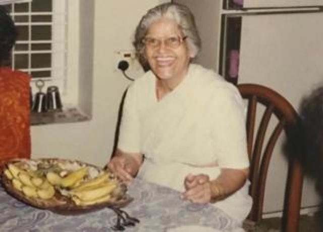 Megha Mohan's grandmother