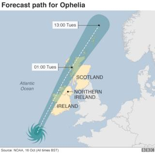 Thousands without power after Ophelia 9
