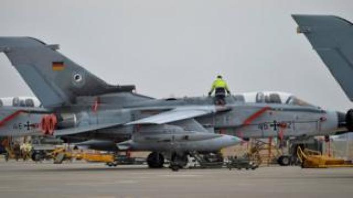 A technician works on a German Tornado jet at Incirlik airbase, Turkey, January 21, 2016