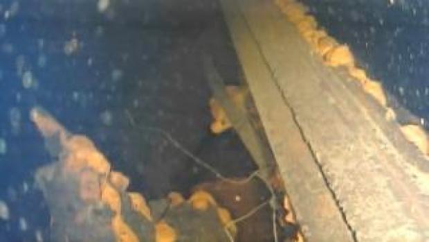 Part of the pedestal wall inside reactor No. 3 at Fukushima Dai-ichi nuclear power plant in Okuma taken on 21 July