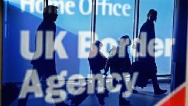 UK Border Agency sign