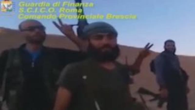 Screengrab from Italian police video of Nusra Front