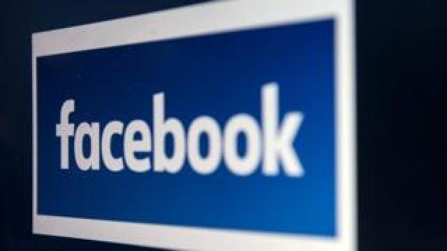 Facebook logo on a computer screen