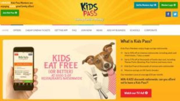 Kids Pass website