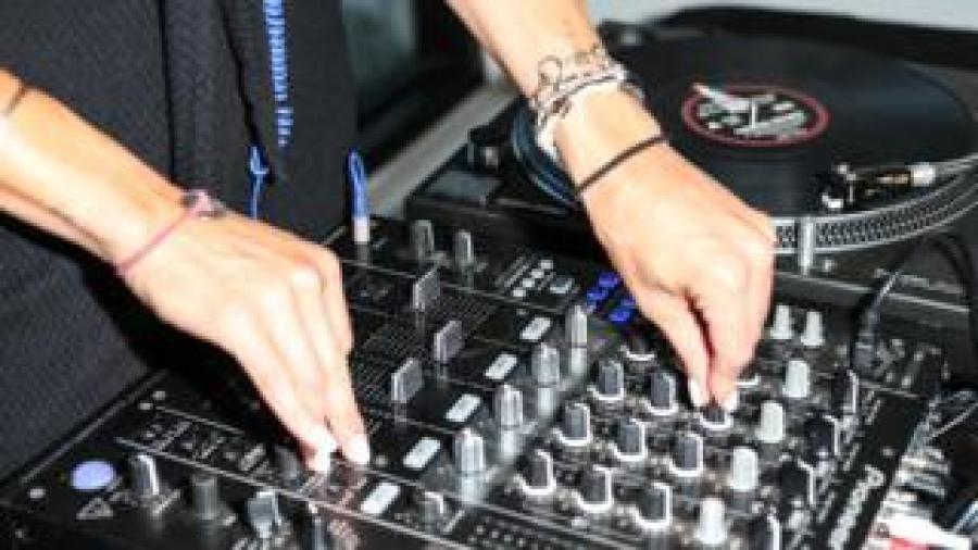 A DJ's turntable