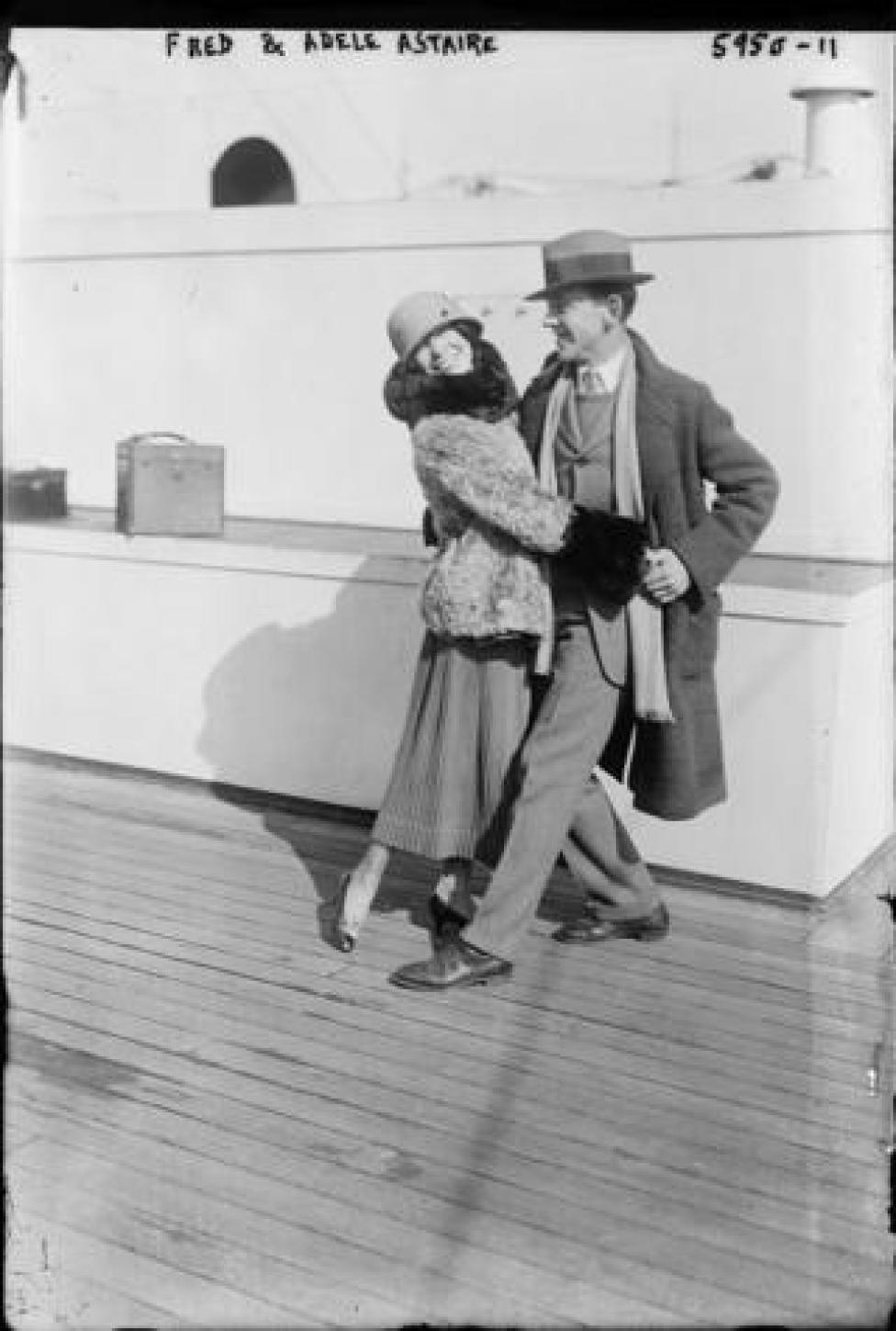 Fred and Adele Astaire bound for London 1922