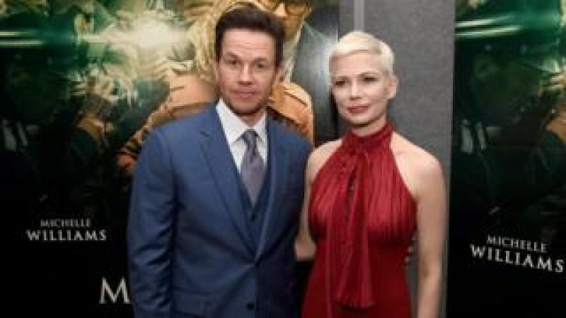 "Mark Wahlberg (L) and Michelle Williams at the premiere of ""All The Money In The World"" on December 18, 2017 in Beverly Hills, California."