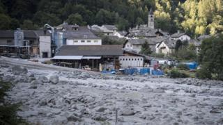 Image result for Eight missing after landslide in Switzerland