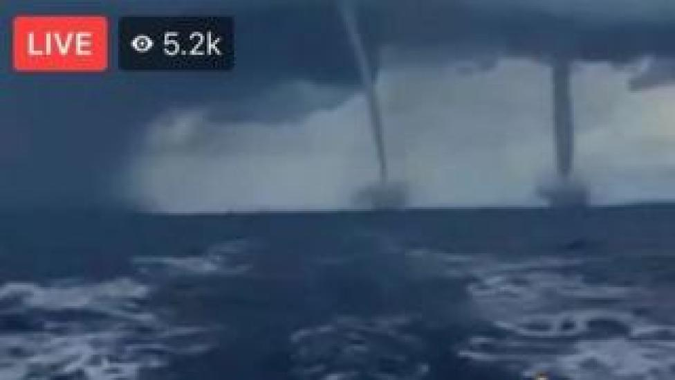 A Facebook Live claiming to show a double tornado approaching Florida was part of hurricane Irma was actually footage from at least 2007.