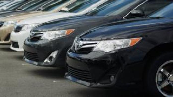 2012 Toyota Camrys are seen on a sales lot on November 9, 2011 in Miami, Florida