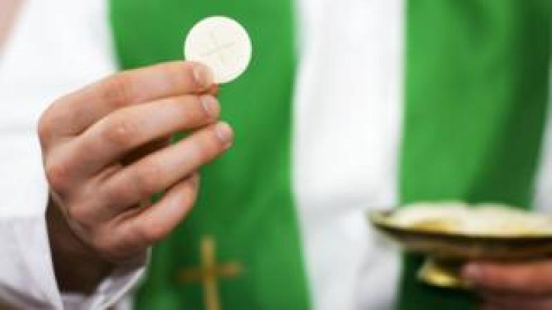 The Diocese of Down and Connor has also advised priests to disinfect their hands before they distribute Holy Communion.