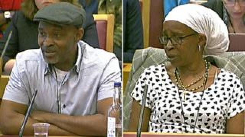 Anthony Bryan and Paulette Wilson give evidence to the Joint Committee on Human Rights on 16 May 2018