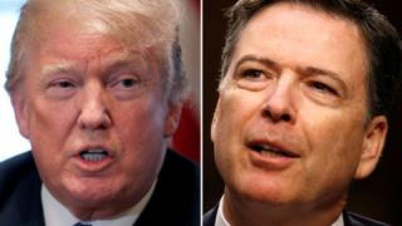 US President Donald Trump and former FBI director James Comey, 9 April 2018