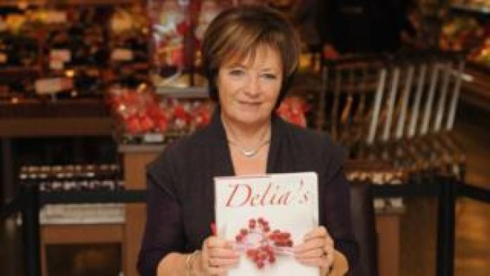 Delia in 2009 with her cookery book