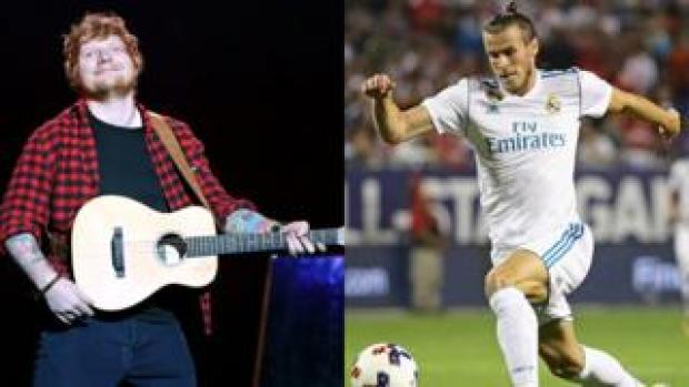 Ed Sheeran and Gareth Bale