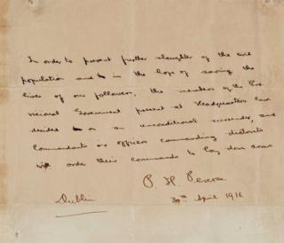Image result for The owner of the Patrick Pearse letter is to keep it in his collection abroad
