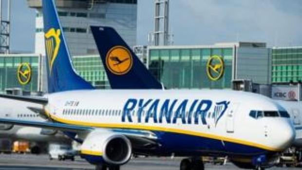 Ryanair plane on runway