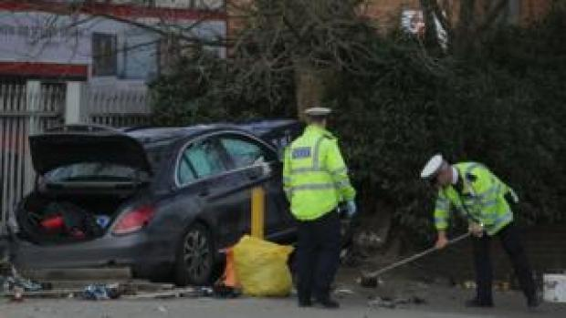 scene of car crash