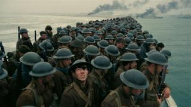 A scene from the new Dunkirk film
