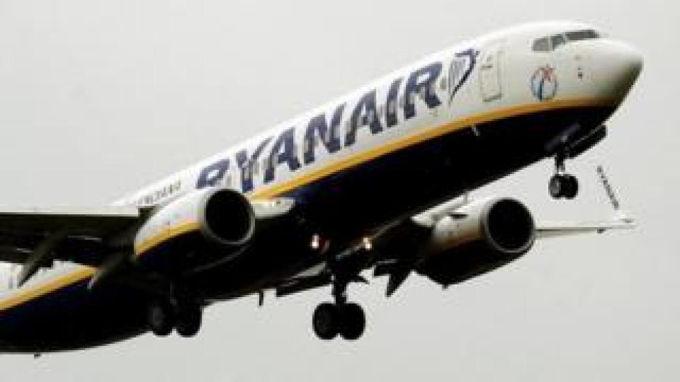 """طائرة تابعة لشركة """"ريان إير"""" الأيرلندية"""
