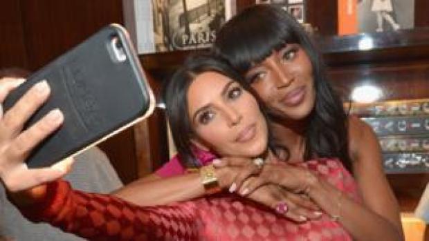 Kim Kardashian West and Naomi Campbell
