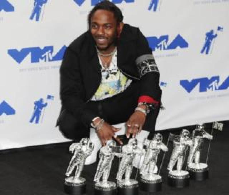 Kendrick Lamar at the MTV VMAs in Los Angeles, 27 August 2017
