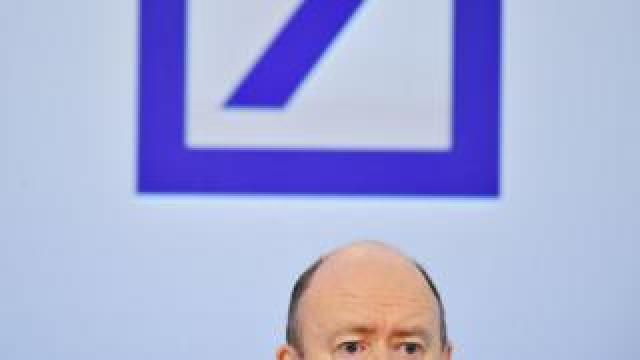 Deutsche Bank CEO John Cryan presents the company's financial results for 2016 during the annual Deutsche Bank press conference