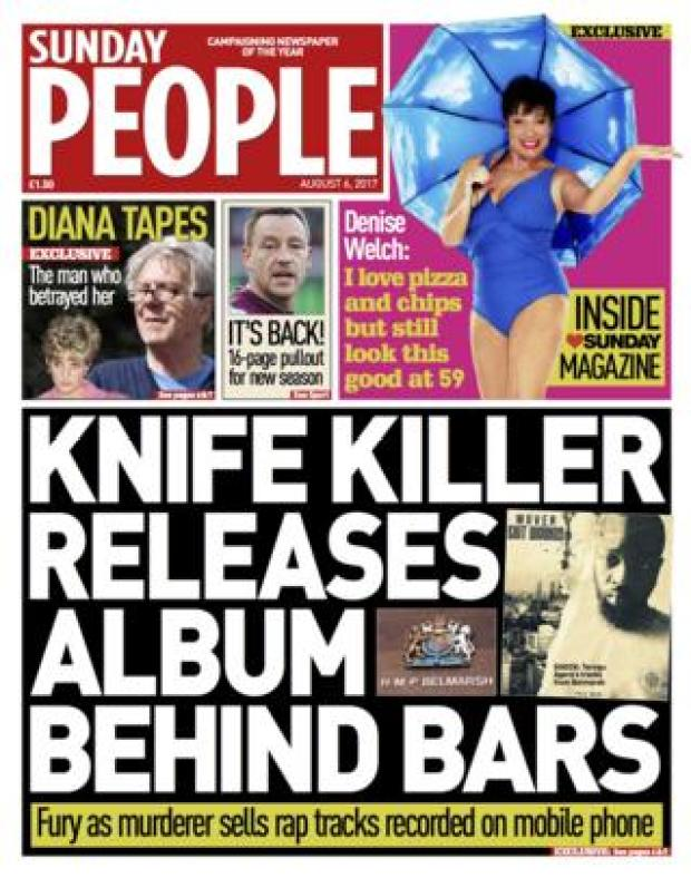 Sunday People front page