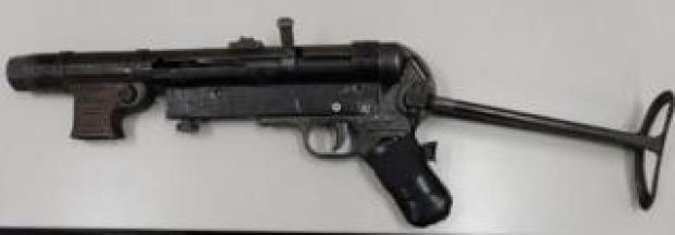 Australian police seized this MP40 submachine gun which they said was in working order