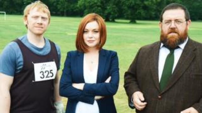 Rupert Grint, Lindsay Lohan and Nick Frost