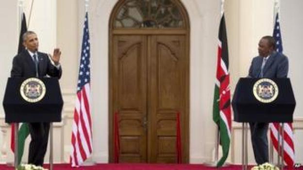 President Obama (left) and President Kenyatta