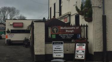McConnell's bar in Doagh on Wednesday