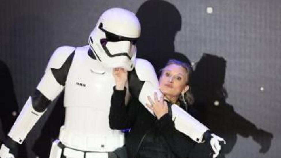 Soldado de Star Wars y Carrie Fisher