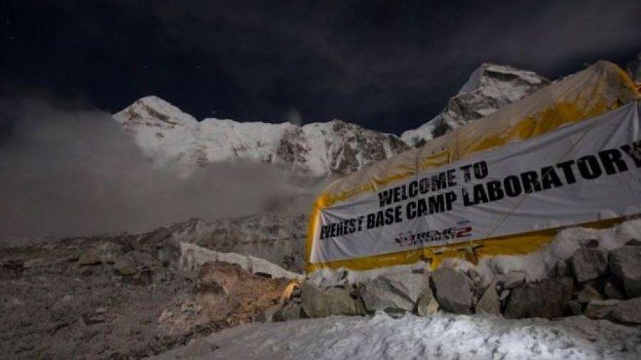 Laboratorio en el Everest