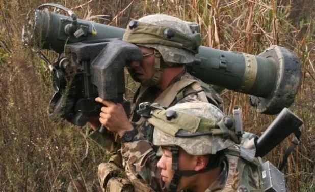 پرتاب موشک ضد تانک در یک مانور در کره جنوبی