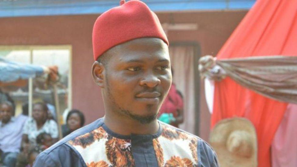 Chidimma Amedu on his wedding day