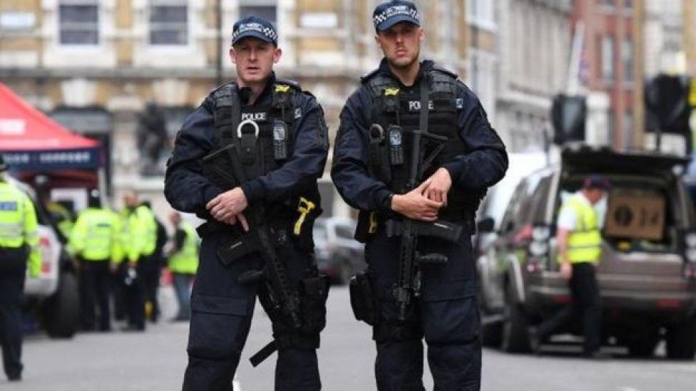 Policías en Londres