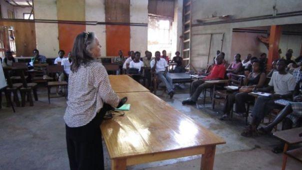 Maria Grette en Uganda