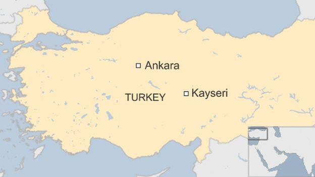Kayseri map