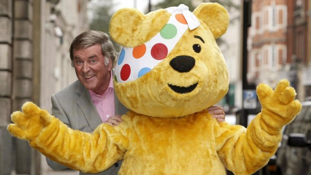 Sir Terry Wogan with Pudsey the Bear in 2008