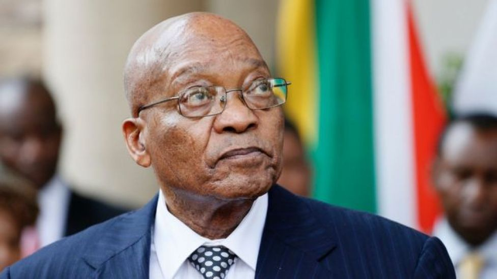 South African President Jacob Zuma at a press conference on 5 April 2017