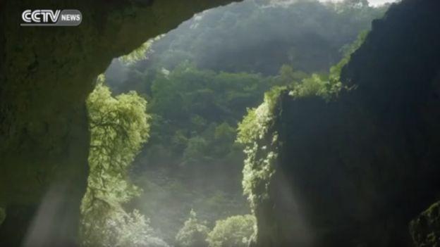 Socavón en China