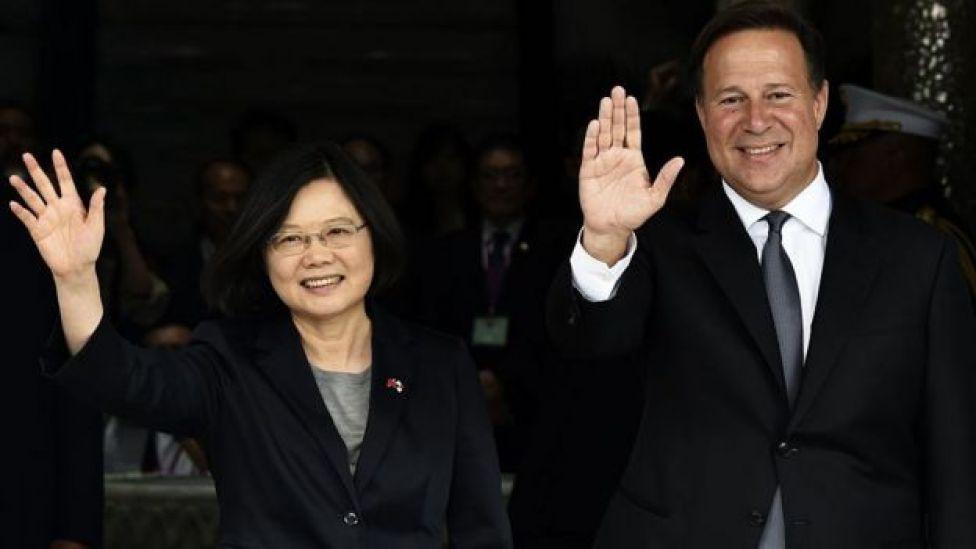 Tayvan Başkanı Tsai Ing-wen ve Panama Devlet Başkanı Juan Carlos Varela Haziran 2016'da görüşmüştü