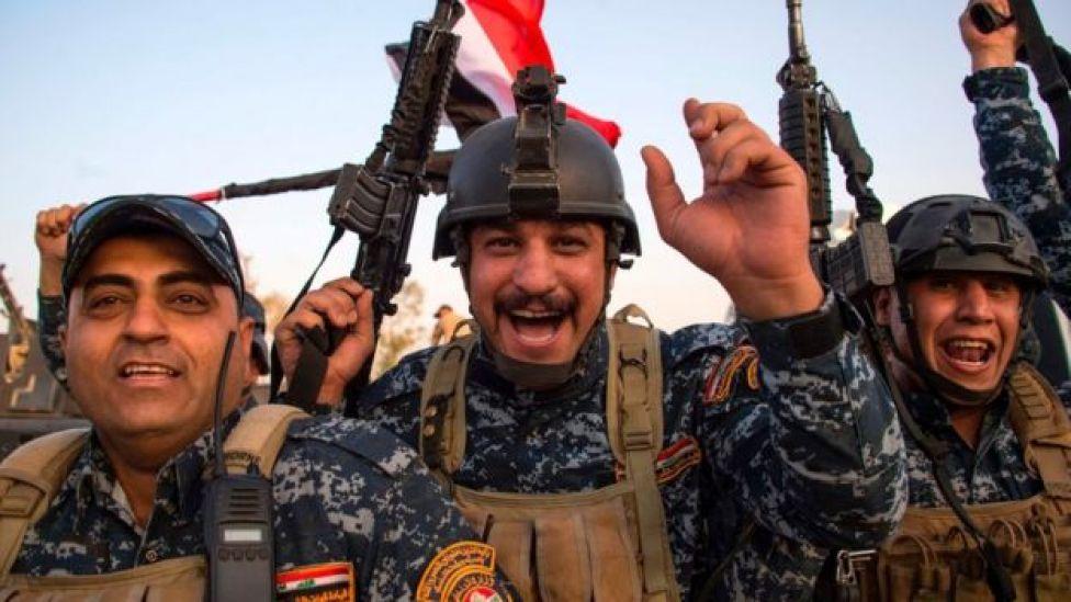 米主導の有志連合はイラク軍がISに「決定的な打撃」を与えたと述べた
