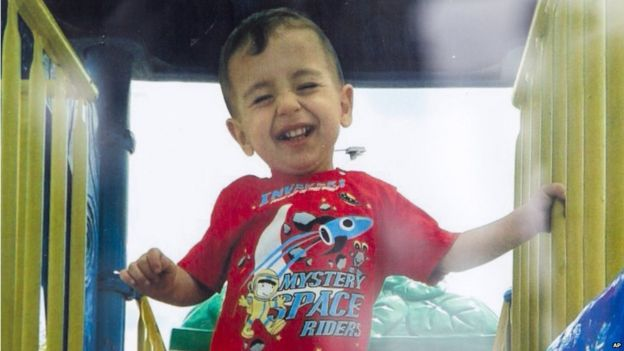 Alan Kurdi, who died trying to reach Greece, along with his brother Ghalib and mother Rehanna