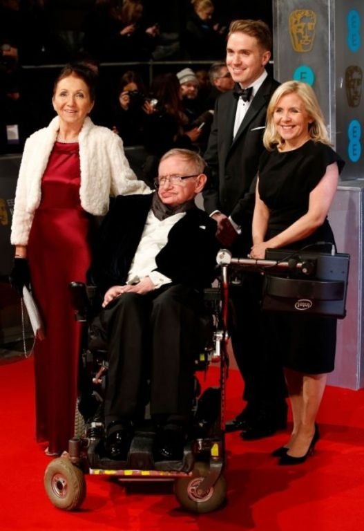 Stephen Hawking and family