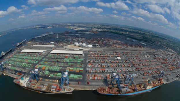 Baltimore container port