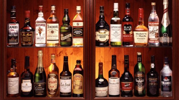An alcohol drinks cabinet